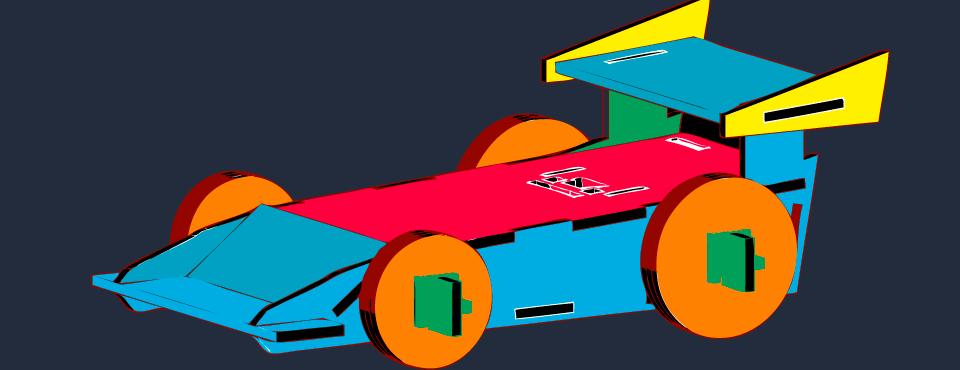 Saru and Shira Eolic Car. Wooden Model.